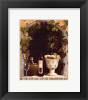 Framed Olive Oil and Wine Arch I