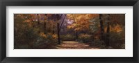 Framed Autumn Road Panel