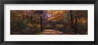 Framed Autumn Road Panel