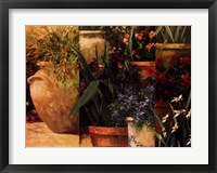 Flower Pots Left Framed Print