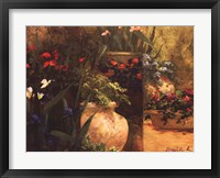 Flower Pots Right Framed Print