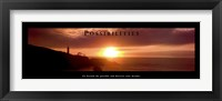 Framed Possibilities - Lighthouse At Sunset