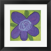 Framed Purple Flower