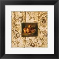 Manzanas En La Mesa Framed Print