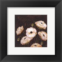 Midnight Poppy Framed Print