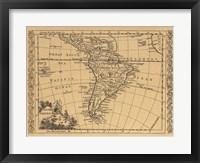 Framed South America, 1802