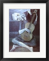 Old Guitarist Framed Print
