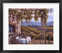 Vineyard Terrace Framed Print