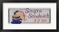 Framed Soup N Sandwich