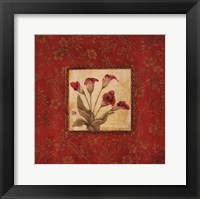 Callas In Red Framed Print