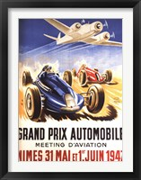 Framed Grand Prix Automobile Nimes