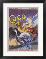 Framed Nouveau Cirque Coco