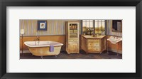 Framed Hamptons Bath I