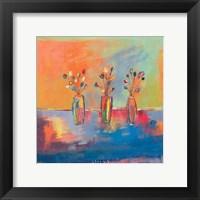 Framed Tres Flores