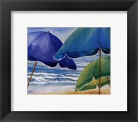 Framed Seaside Umbrellas