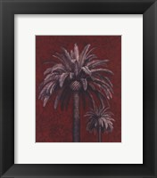 Framed Palm Study On Red