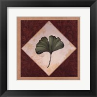 Diamond Leaves II Framed Print