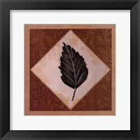 Framed Diamond Leaves IV
