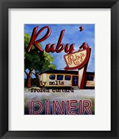 Framed Ruby's Diner