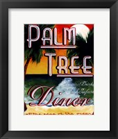 Framed Palm Tree Diner