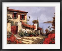 Il Gardino Rosso Framed Print