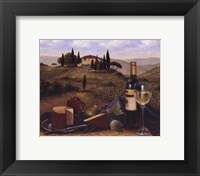 Terrace At Vitiano Framed Print