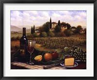 Terrace At Chianti Framed Print