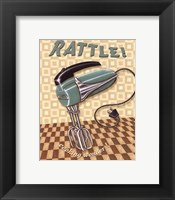 Nifty Fifties - Rattle Framed Print