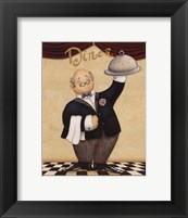 Waiter - Diner Framed Print