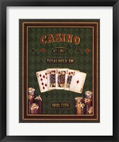 Texas Hold 'Em Framed Print