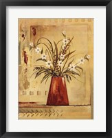 Framed Red Vase