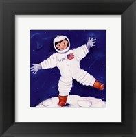 One Foot On The Moon Framed Print