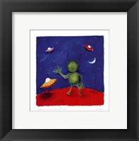 Catching A Cab On The Red Planet Framed Print