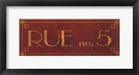 Rue No5 Framed Print