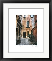 Framed Venice Courtyard