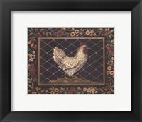 Old World Hen - Mini Framed Print