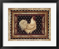 Jaunty Plumerie I Framed Print