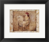 Framed Rustic Farmhouse Rooster I - Mini