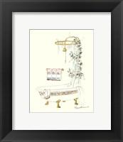 Framed Tubs With Curtains-Bathtime Opulence