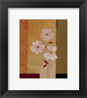 Framed Three White Flowers I