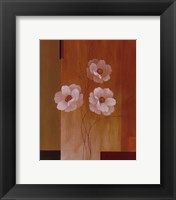 Three White Flowers II Framed Print