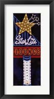 Star Lite Lounge Framed Print