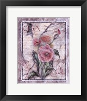 Love Letter Poppies Framed Print