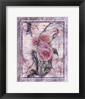 Framed Love Letter Poppies