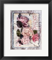 Framed Love Letter Roses