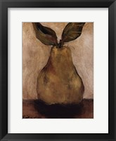 Golden Pear On Beige Framed Print