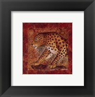 Leopard Safari Framed Print