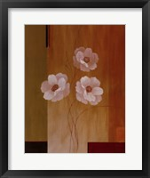 Framed Three White Flowers II