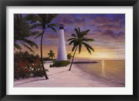 Framed Lighthouse-Key Biscayne