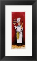Chef With Pastry Framed Print
